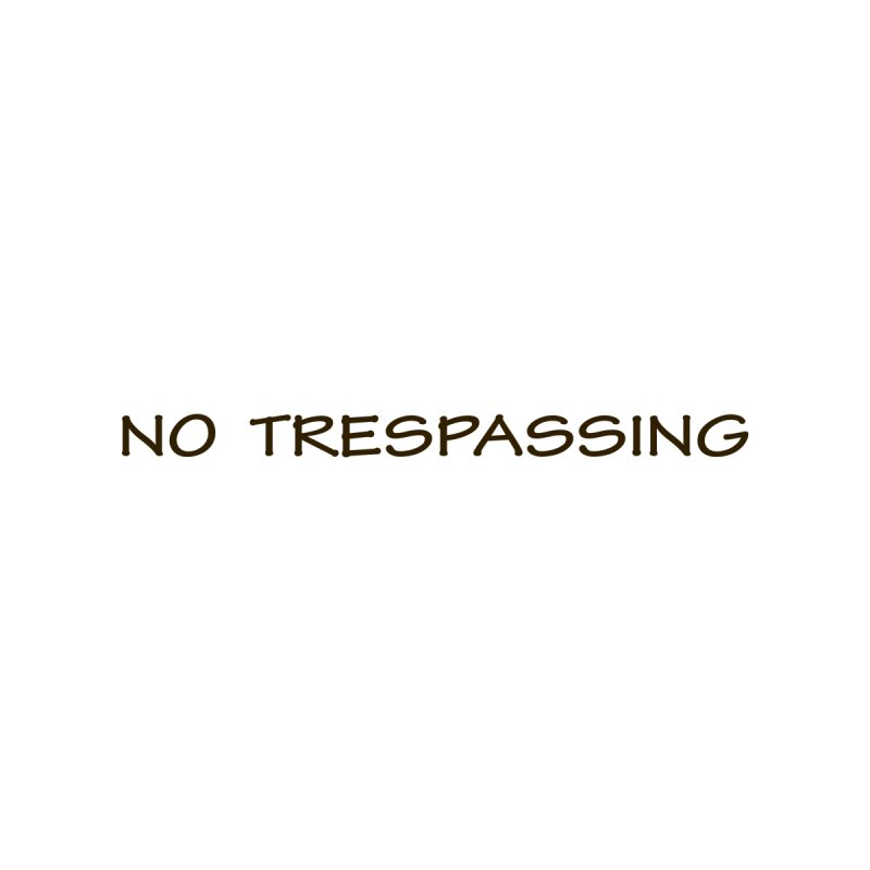 NO TRESPASSING Women's V-Neck by fucku's Artist Shop