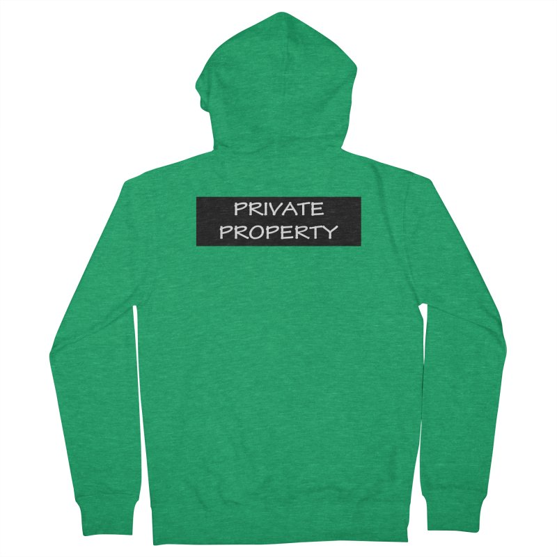 PRIVATE PROPERTY white Women's Zip-Up Hoody by fucku's Artist Shop