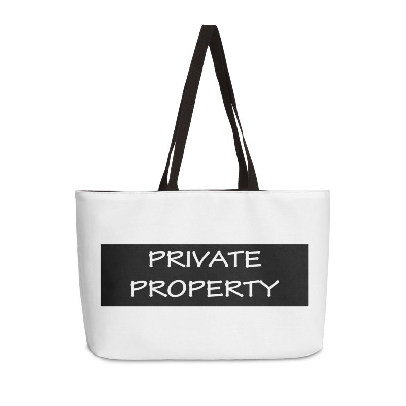 PRIVATE PROPERTY white Accessories Bag by fucku's Artist Shop