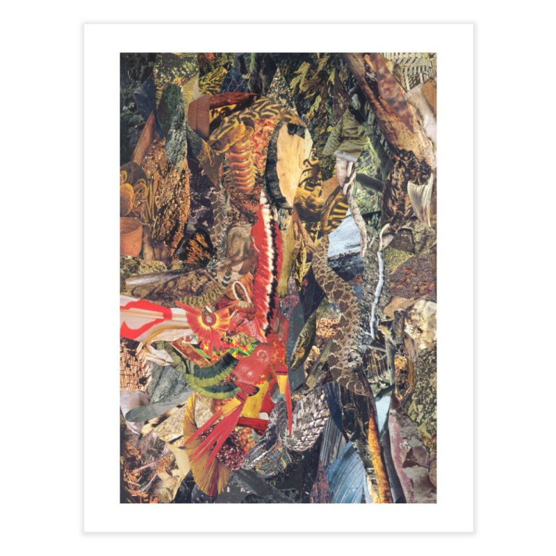 Ivan Zoloto — Fire Ocean 2 Home Fine Art Print by fullofno's Artist Shop