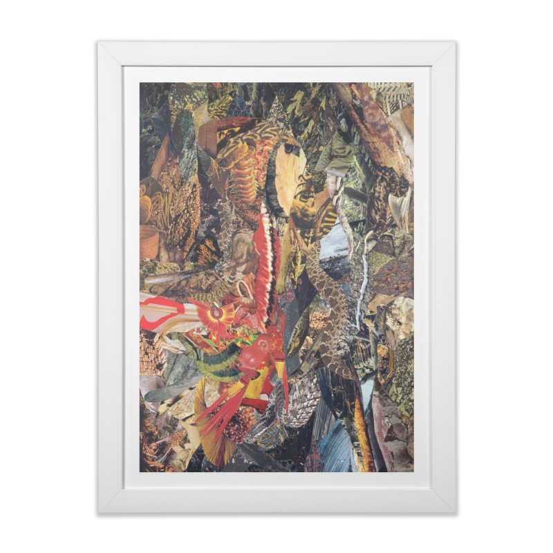 Ivan Zoloto — Fire Ocean 2 Home Framed Fine Art Print by fullofno's Artist Shop
