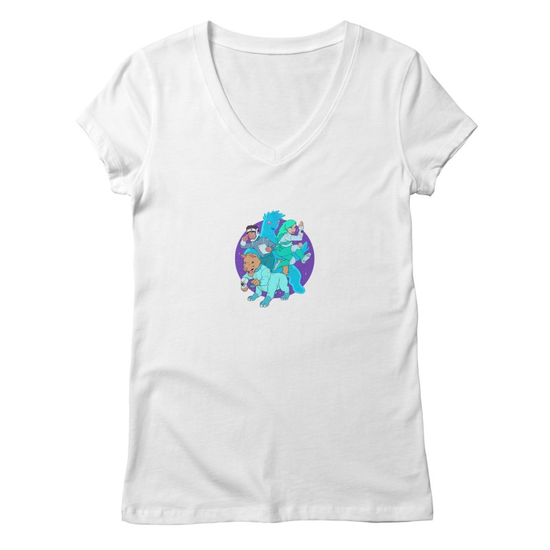 Star Jumpers! Women's Regular V-Neck by Funked