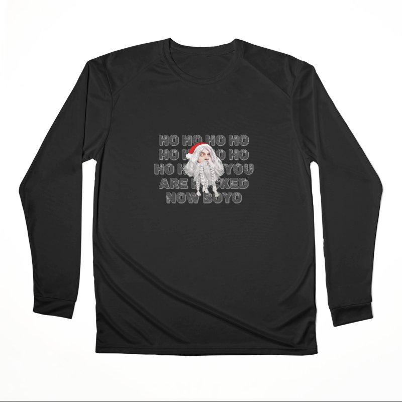 Savage Santa Women's Longsleeve T-Shirt by Funked