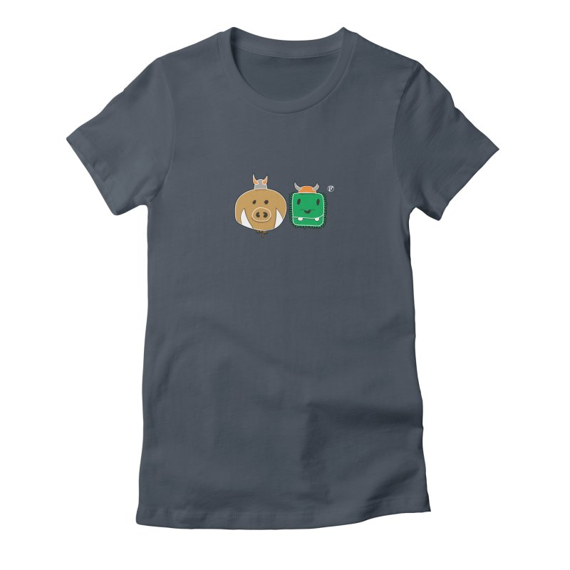 Poko And Cham Cham Women's Fitted T-Shirt by Funked