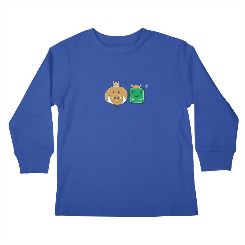 Poko And Cham Cham Kids Longsleeve T-Shirt by Funked