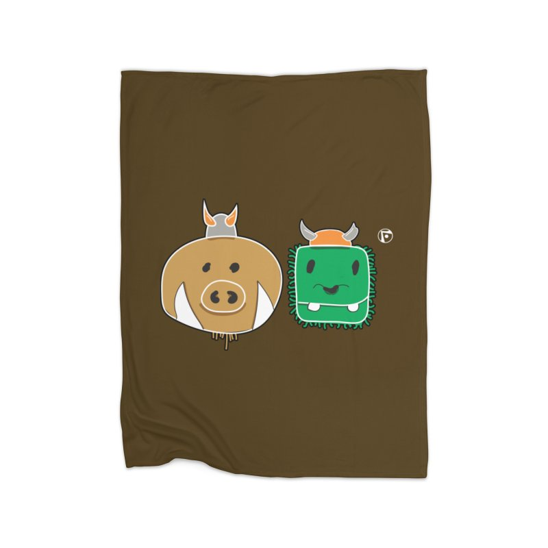 Poko And Cham Cham Home Fleece Blanket Blanket by Funked