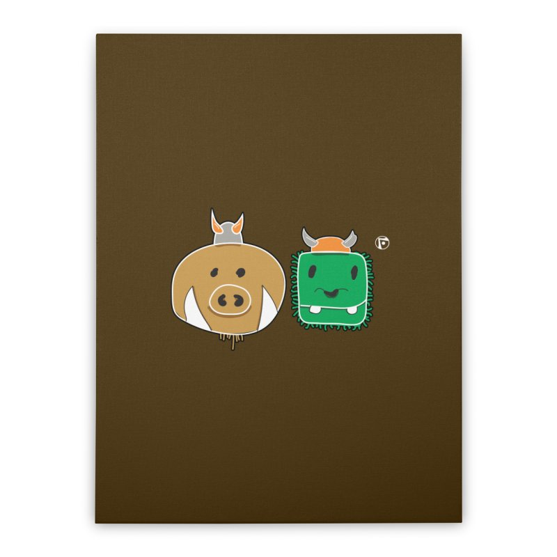 Poko And Cham Cham Home Stretched Canvas by Funked