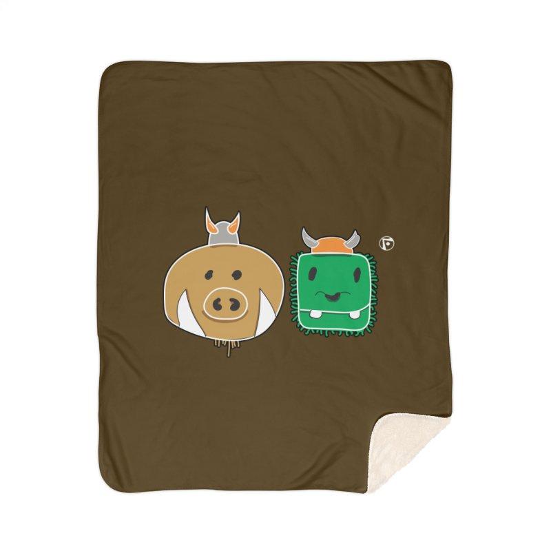 Poko And Cham Cham Home Sherpa Blanket Blanket by Funked