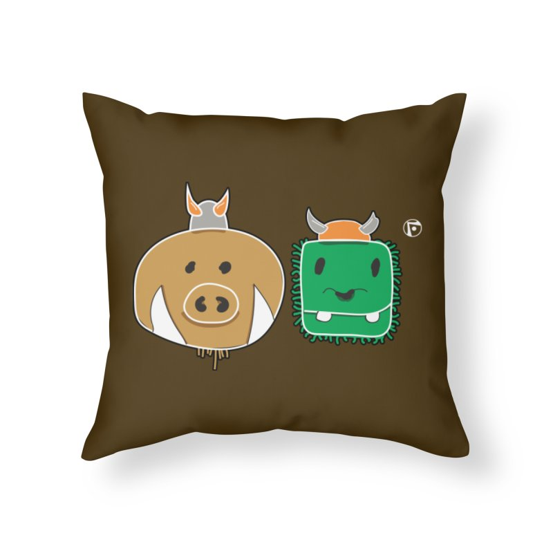 Poko And Cham Cham Home Throw Pillow by Funked