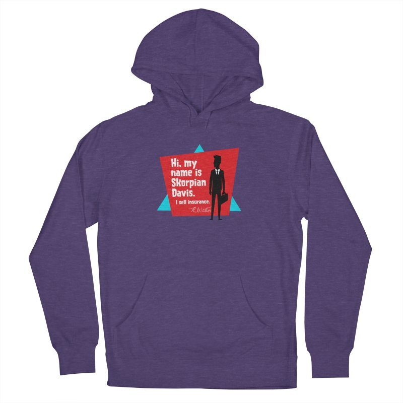 Hi, my name is Skorpian Davis. I sell insurance. Men's Pullover Hoody by Funked