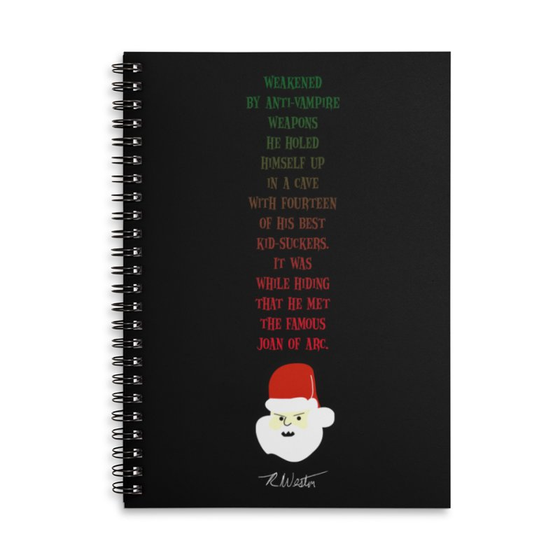 Santa's Secret Accessories Lined Spiral Notebook by Funked