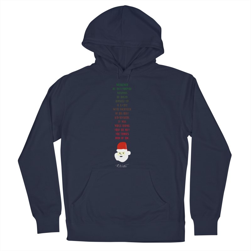 Santa's Secret Women's French Terry Pullover Hoody by Funked
