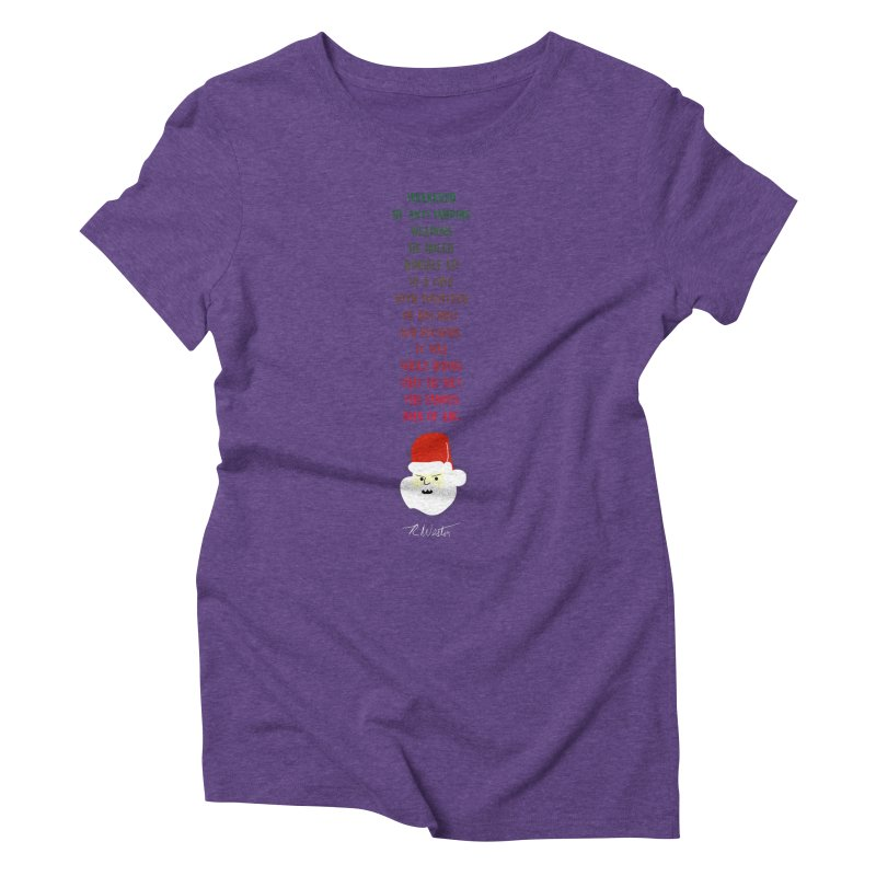 Santa's Secret Women's Triblend T-Shirt by Funked