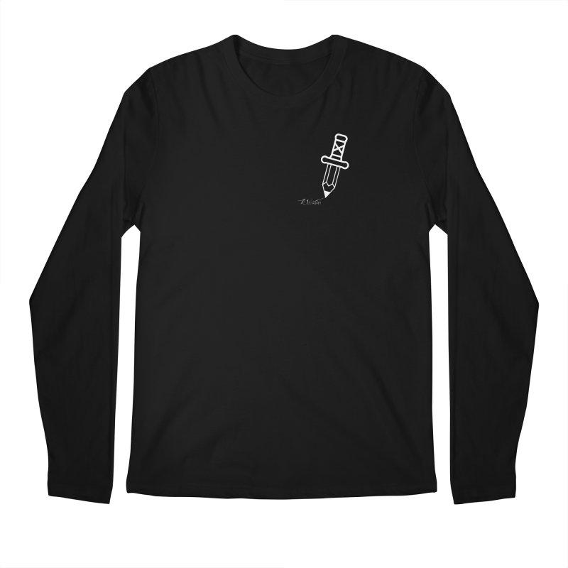 Rod Wrote (White) Men's Regular Longsleeve T-Shirt by Funked