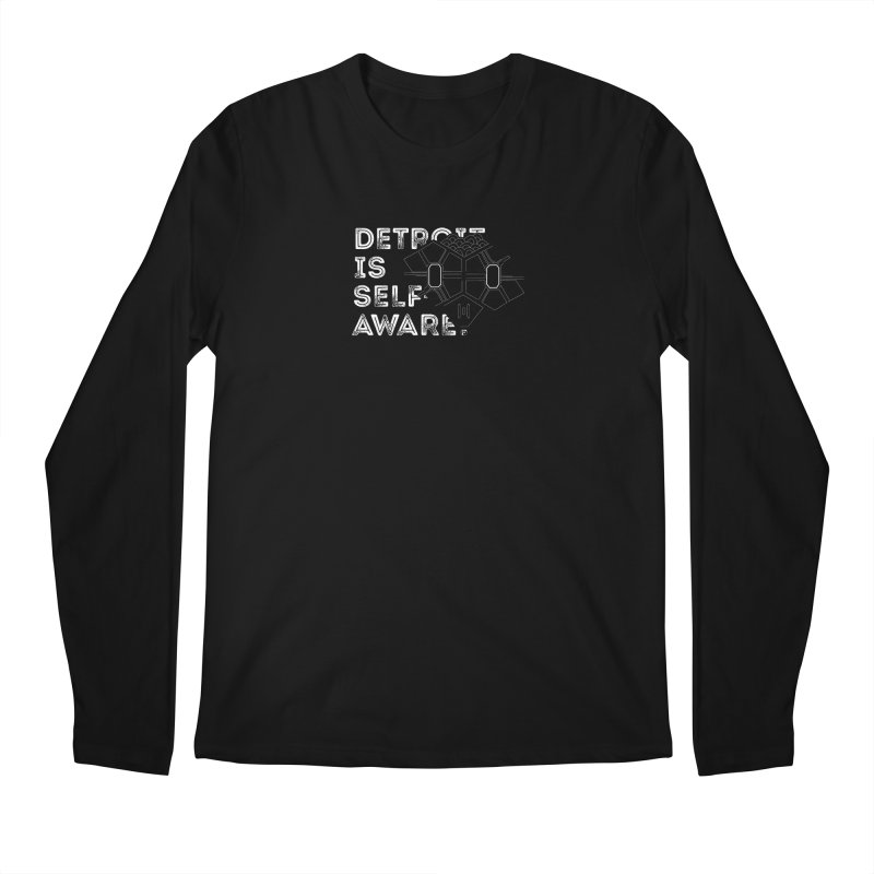 Detroit is Self-Aware (featuring Martius) Men's Longsleeve T-Shirt by Funked