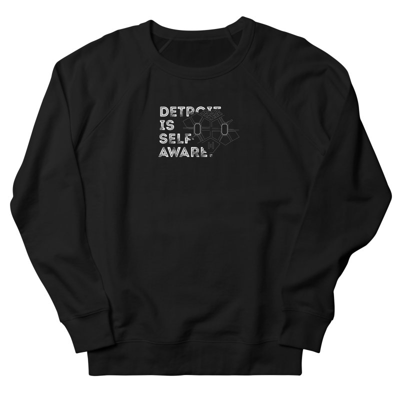 Detroit is Self-Aware (featuring Martius) Men's French Terry Sweatshirt by Funked