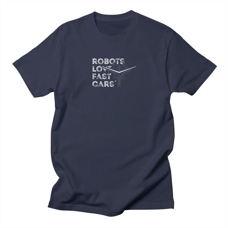Robots Love Fast Cars (featuring Ren) Men's T-Shirt by Funked