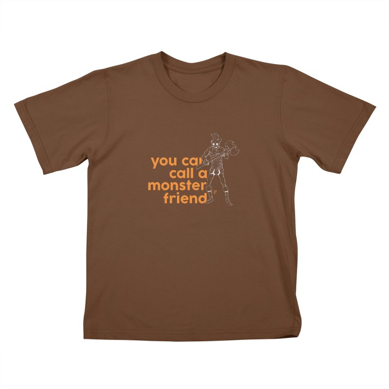 You can call a monster friend. Kids T-shirt by Funked