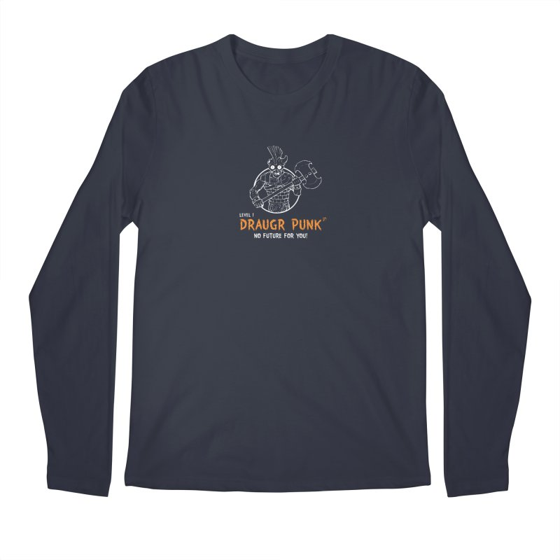 Level 1 Draugr Punk Men's Regular Longsleeve T-Shirt by Funked