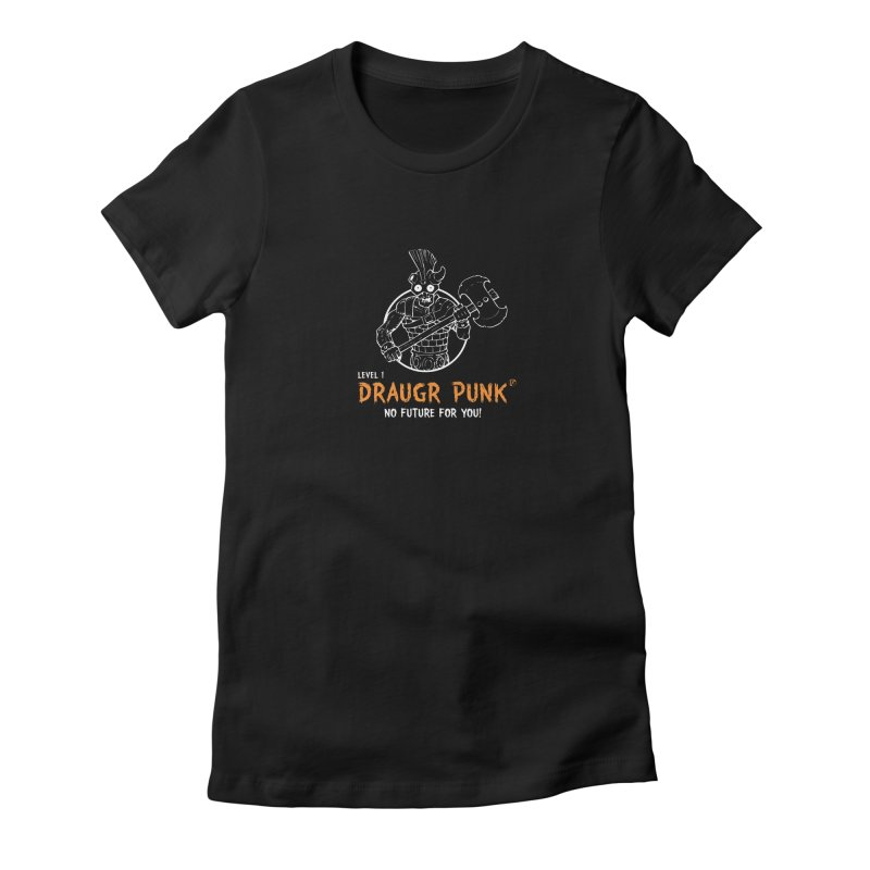Level 1 Draugr Punk Women's Fitted T-Shirt by Funked
