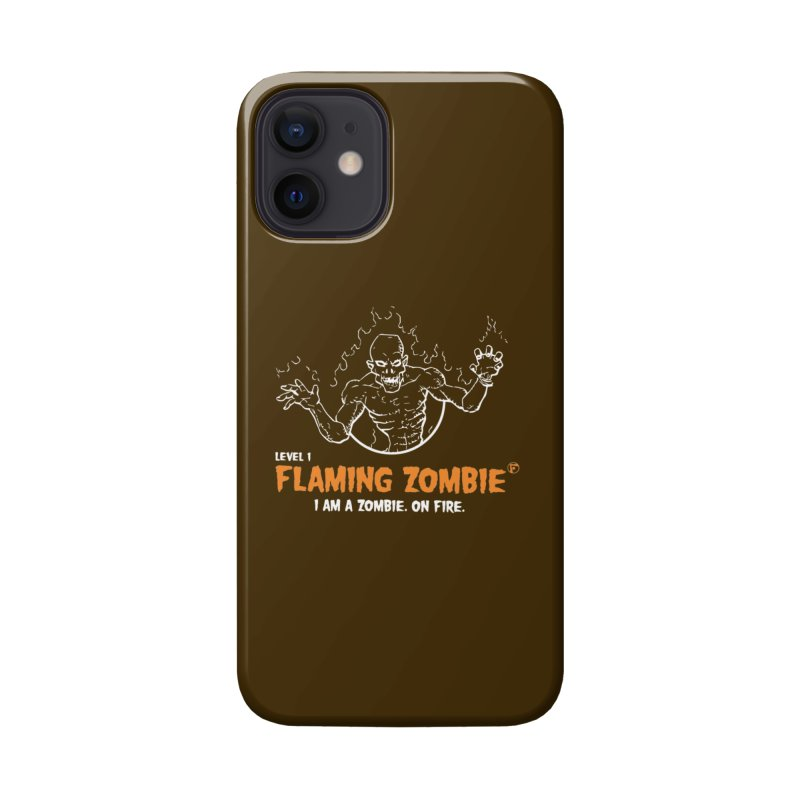 Level 1 Flaming Zombie Accessories Phone Case by Funked