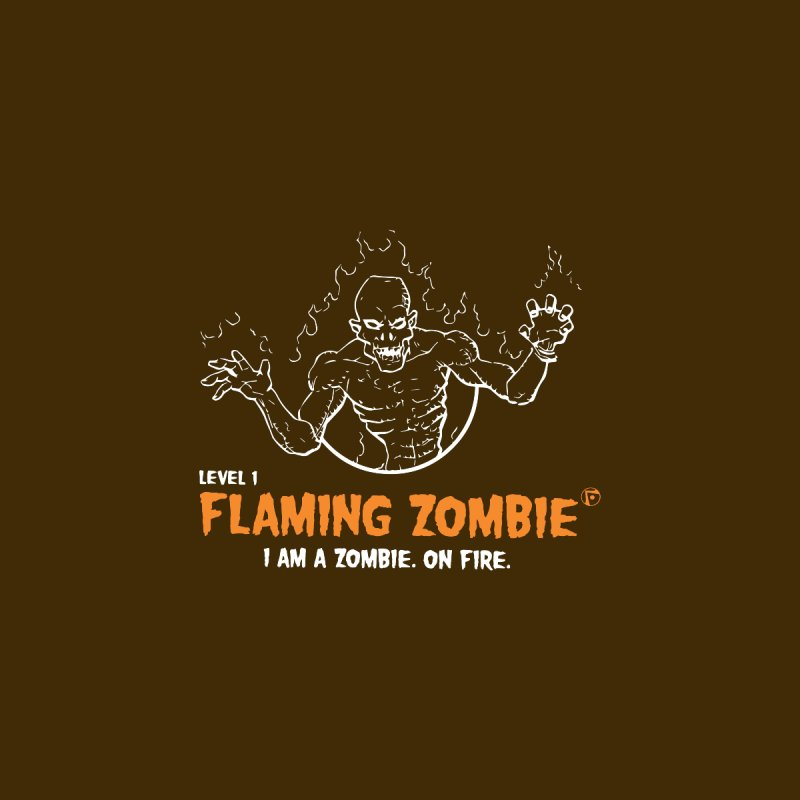 Level 1 Flaming Zombie Women's Racerback Tank by Funked