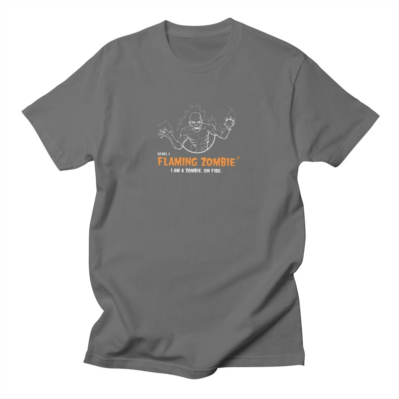 Level 1 Flaming Zombie Men's T-Shirt by Funked