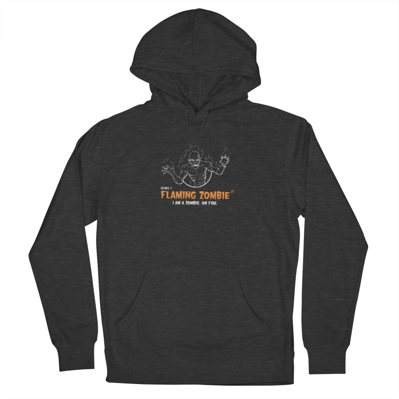 Level 1 Flaming Zombie Women's Pullover Hoody by Funked