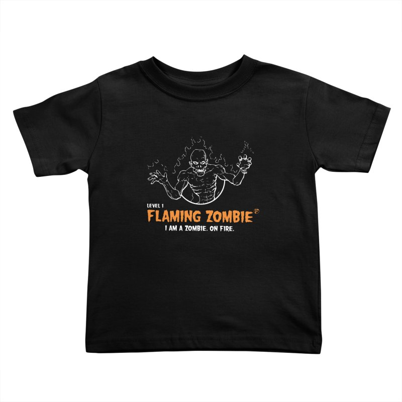 Level 1 Flaming Zombie Kids Toddler T-Shirt by Funked