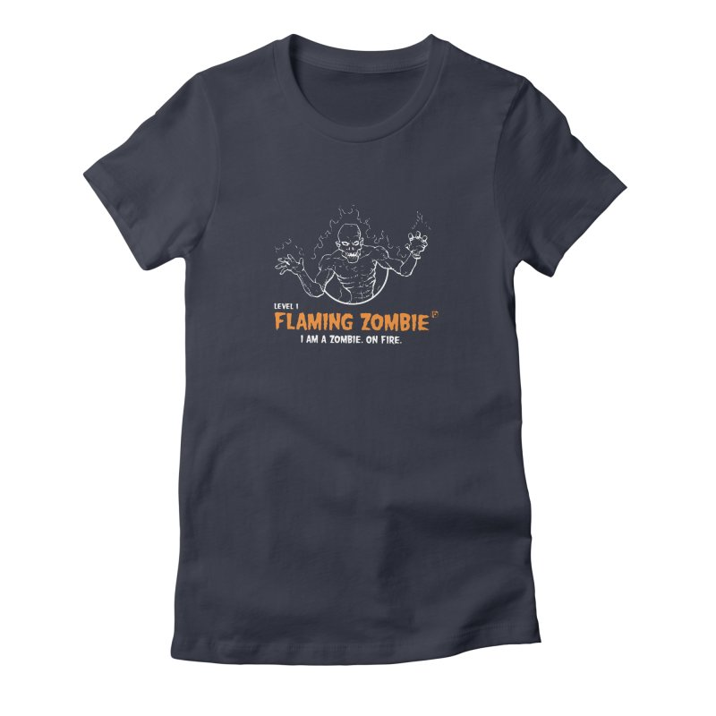 Level 1 Flaming Zombie Women's T-Shirt by Funked