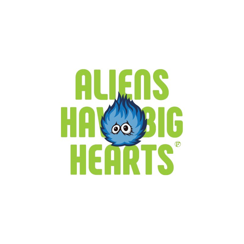 Aliens have big hearts. Kids Pullover Hoody by Funked