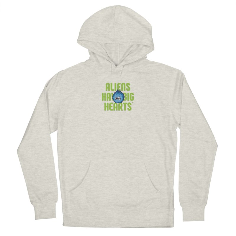 Aliens have big hearts. Men's Pullover Hoody by Funked