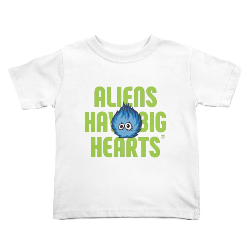 Aliens have big hearts. Kids Toddler T-Shirt by Funked