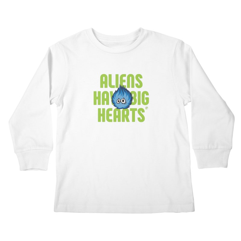 Aliens have big hearts. Kids Longsleeve T-Shirt by Funked