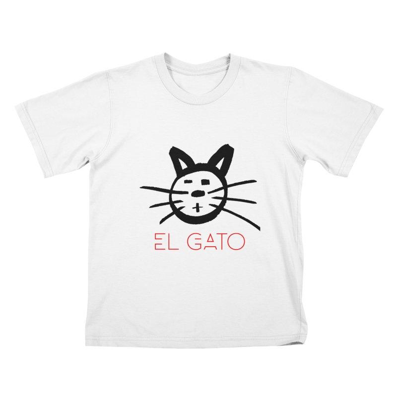 El gato in Kids T-Shirt White by funkitshirt