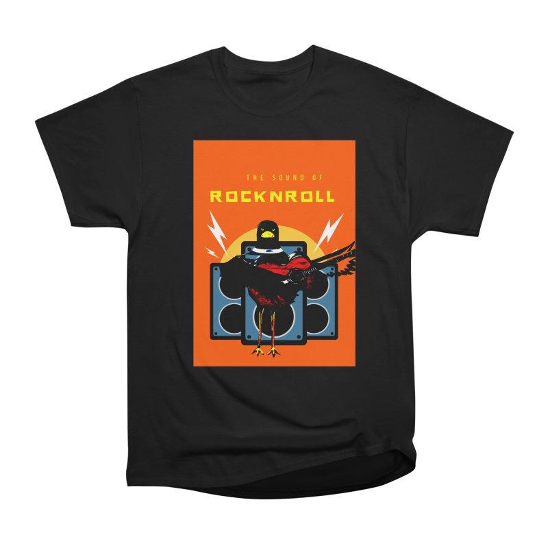 Rock n Roll in Women's Heavyweight Unisex T-Shirt Black by funkitshirt