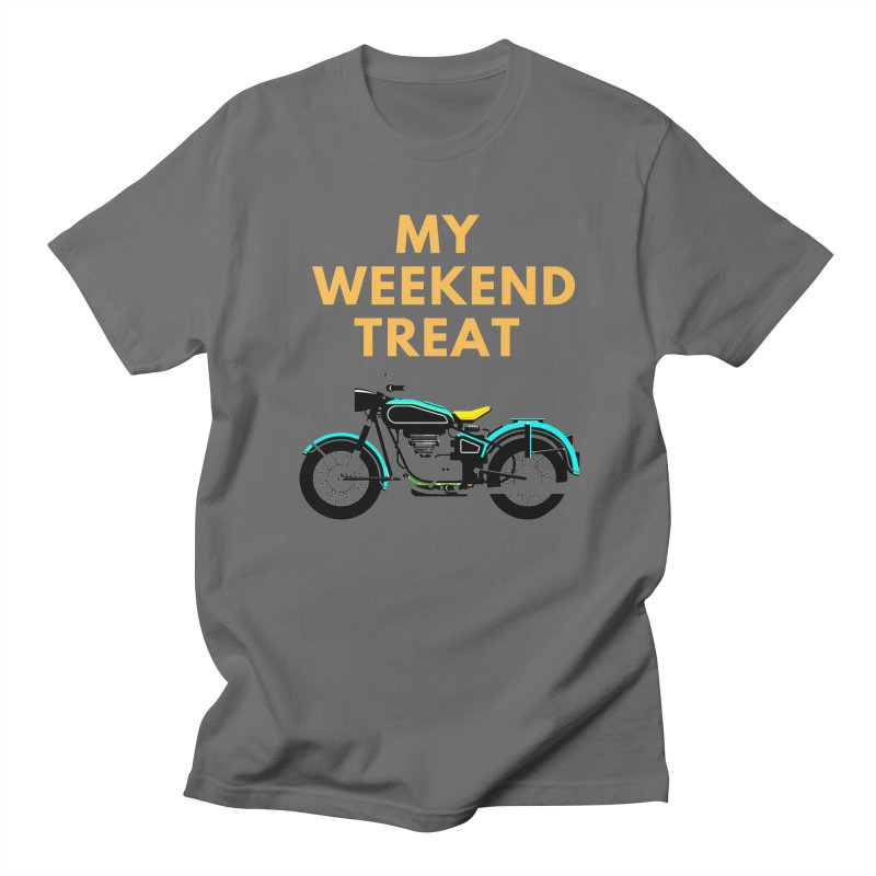 My weekend treat in Women's Regular Unisex T-Shirt Asphalt by funkitshirt