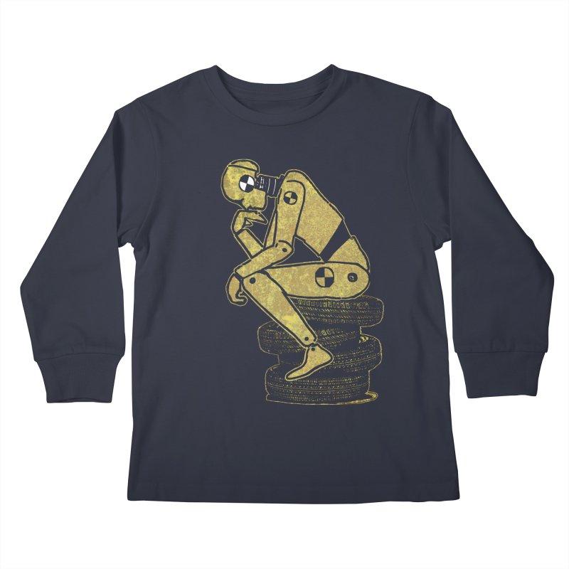 Existential Conundrum Kids Longsleeve T-Shirt by funkymojo's Artist Shop