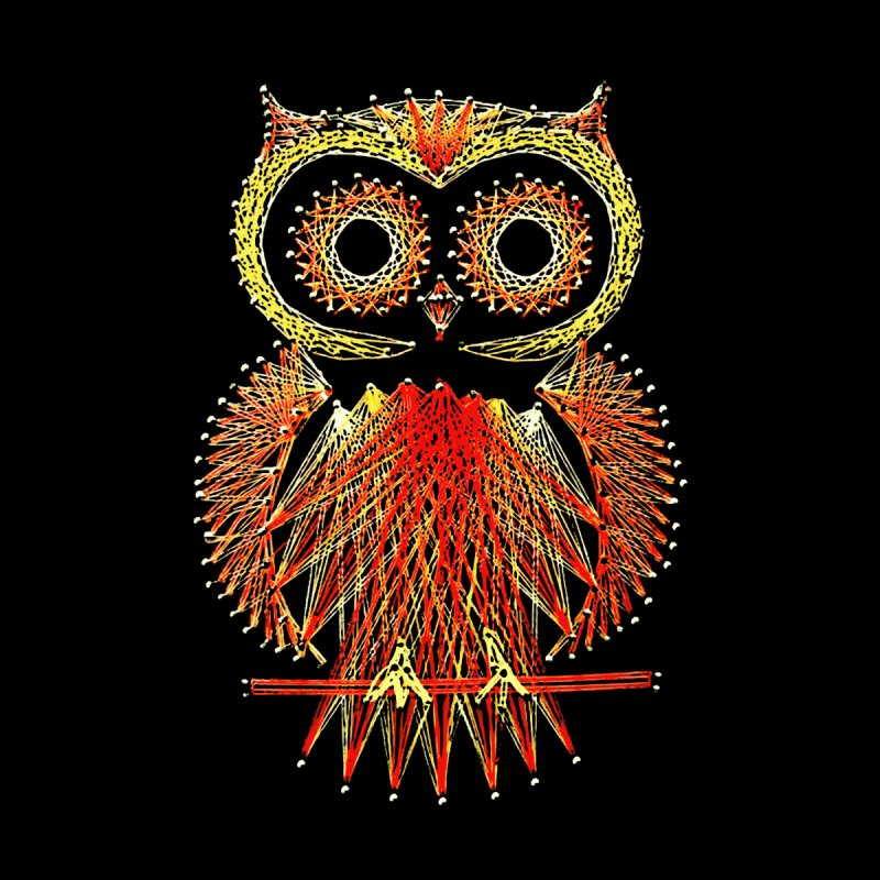 String Art Owl by funkymojo's Artist Shop