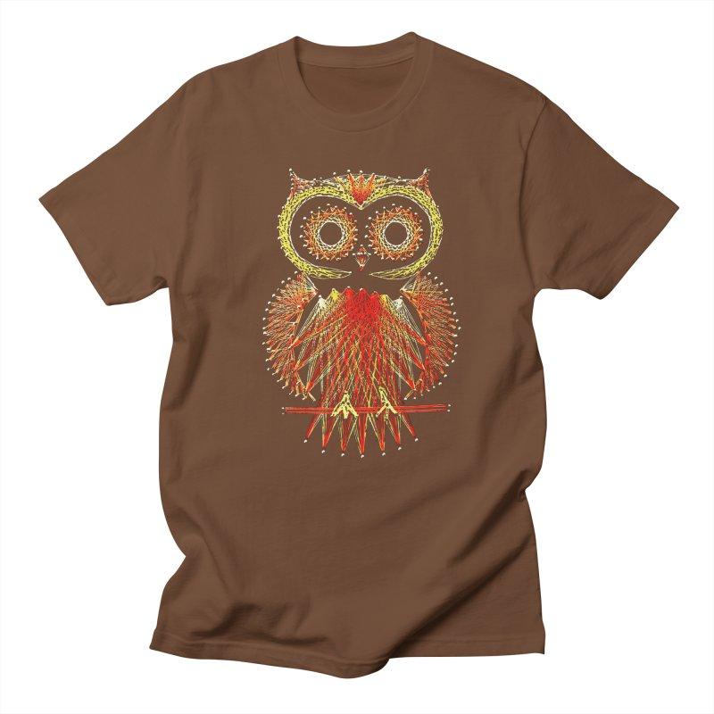 String Art Owl Men's T-Shirt by funkymojo's Artist Shop