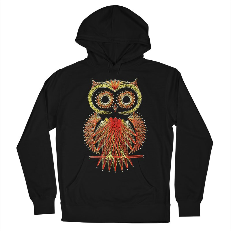 String Art Owl Men's Pullover Hoody by funkymojo's Artist Shop