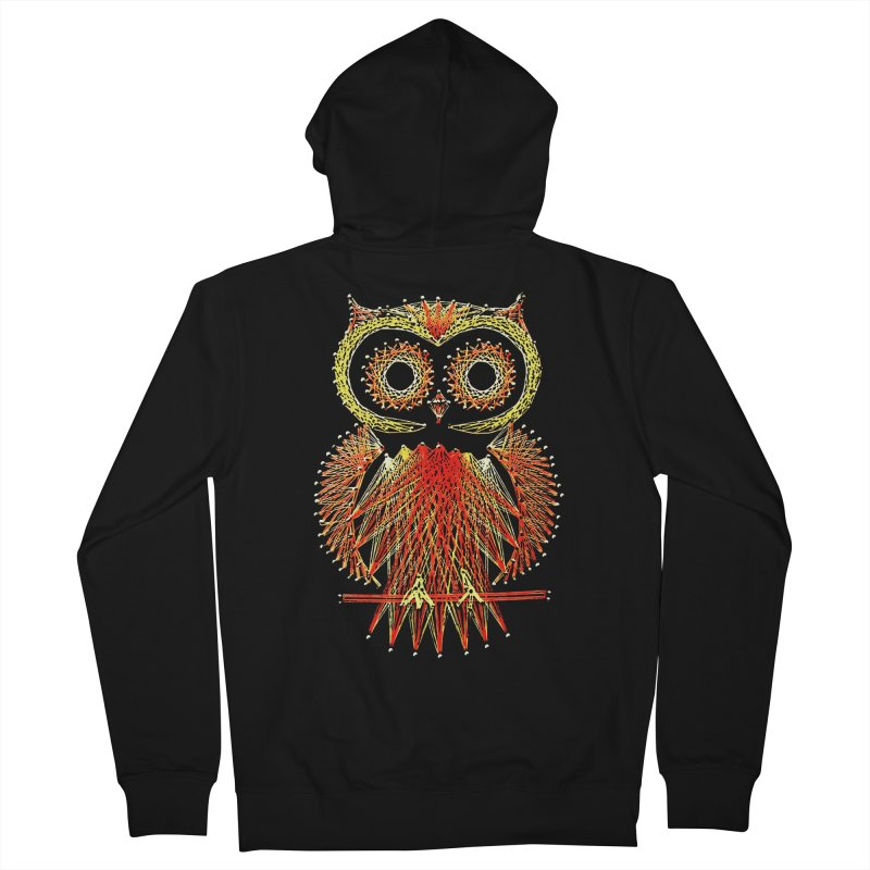 String Art Owl Men's Zip-Up Hoody by funkymojo's Artist Shop
