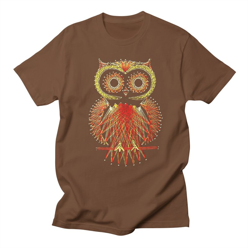 String Art Owl Men's T-shirt by funkymojo's Artist Shop