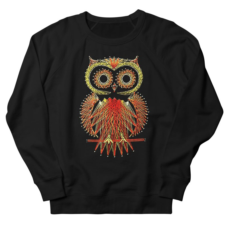 String Art Owl Men's Sweatshirt by funkymojo's Artist Shop