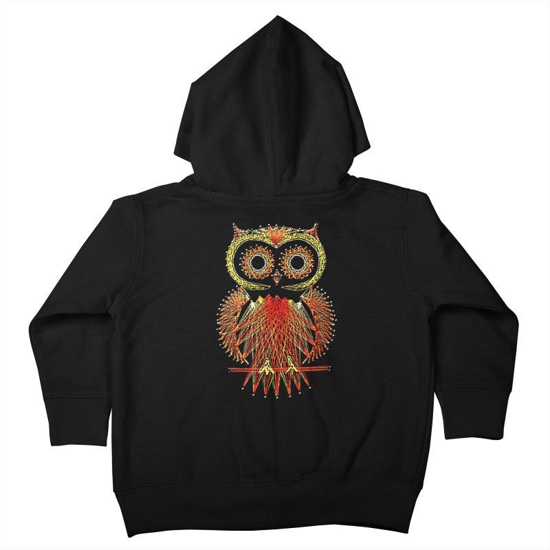 String Art Owl Kids Toddler Zip-Up Hoody by funkymojo's Artist Shop