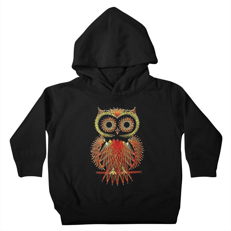 String Art Owl Kids Toddler Pullover Hoody by funkymojo's Artist Shop