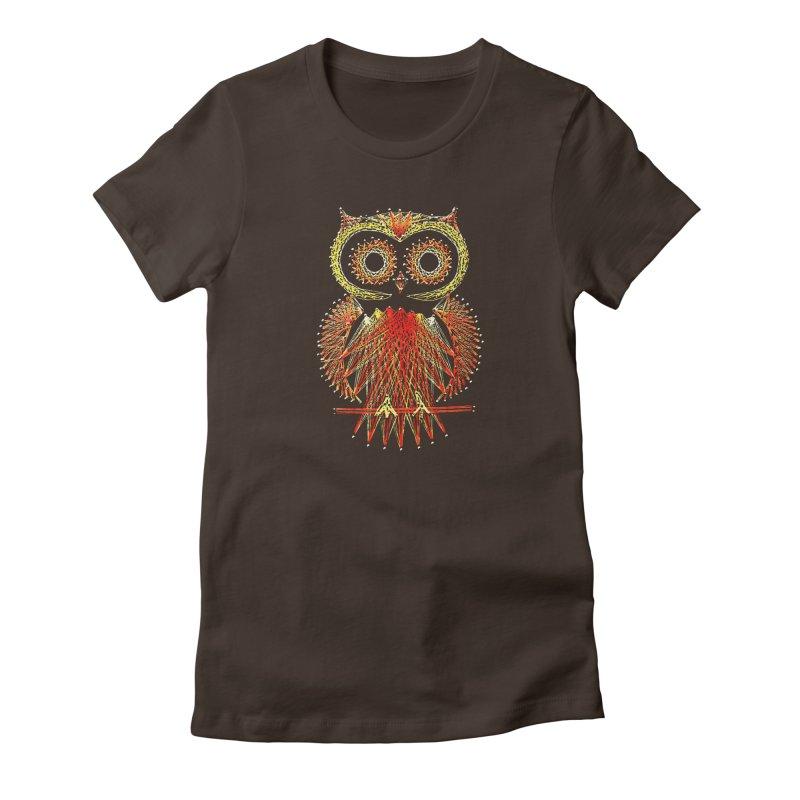 String Art Owl Women's T-Shirt by funkymojo's Artist Shop