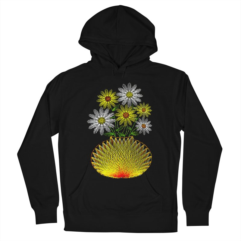 String Art Flowers Men's Pullover Hoody by funkymojo's Artist Shop