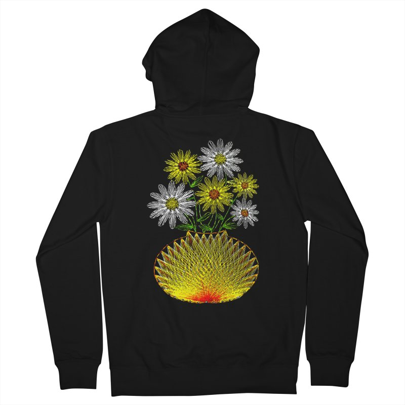 String Art Flowers Men's Zip-Up Hoody by funkymojo's Artist Shop