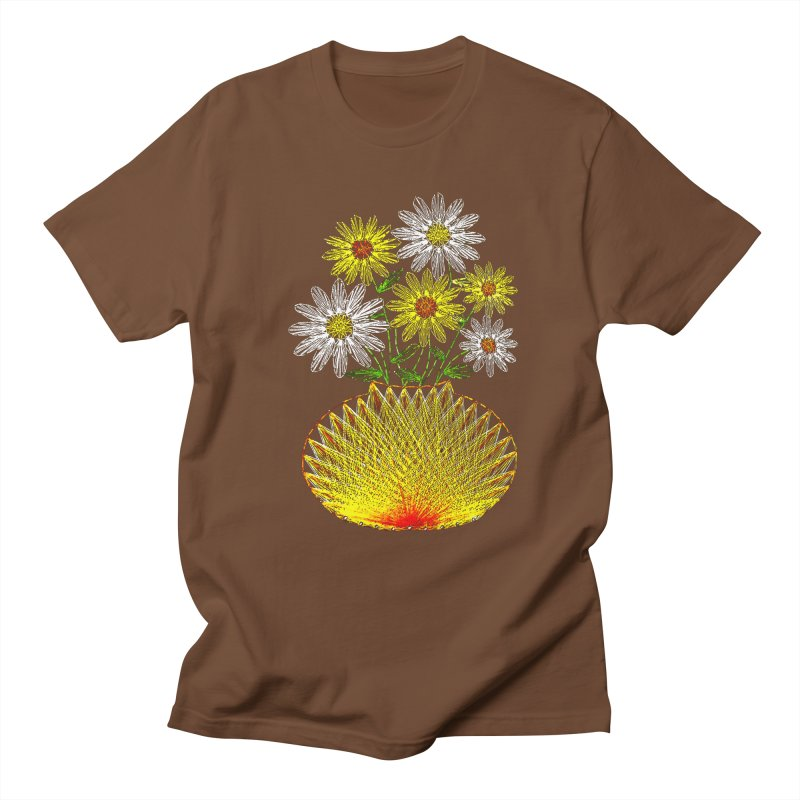 String Art Flowers Men's T-shirt by funkymojo's Artist Shop